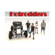 """Hotrodders"""" 4 Piece Figure Set For 1:24 Scale Models by American Diorama"""""""