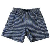 PAL ZILERI Men's Tie Waist Swim Trunks Blue/Yellow