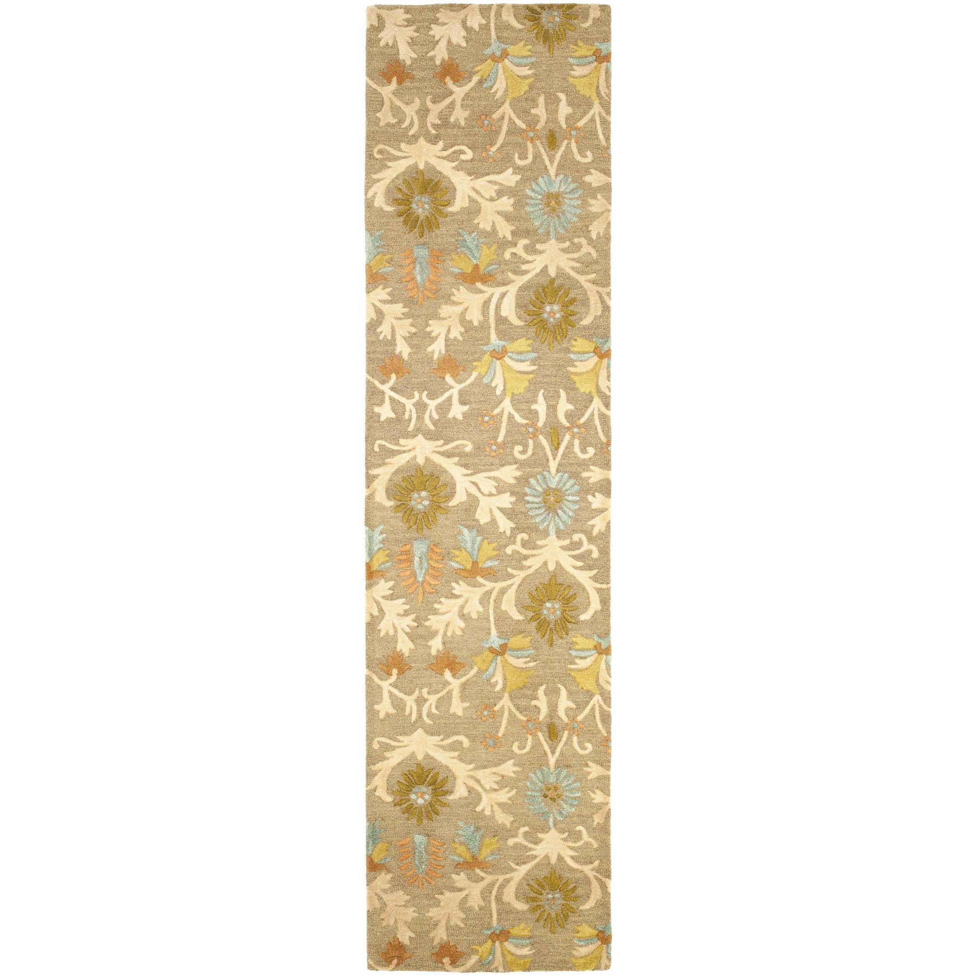 Safavieh Cambridge Jone Welsh Wool Pile Runner Rug, Moss/Multi