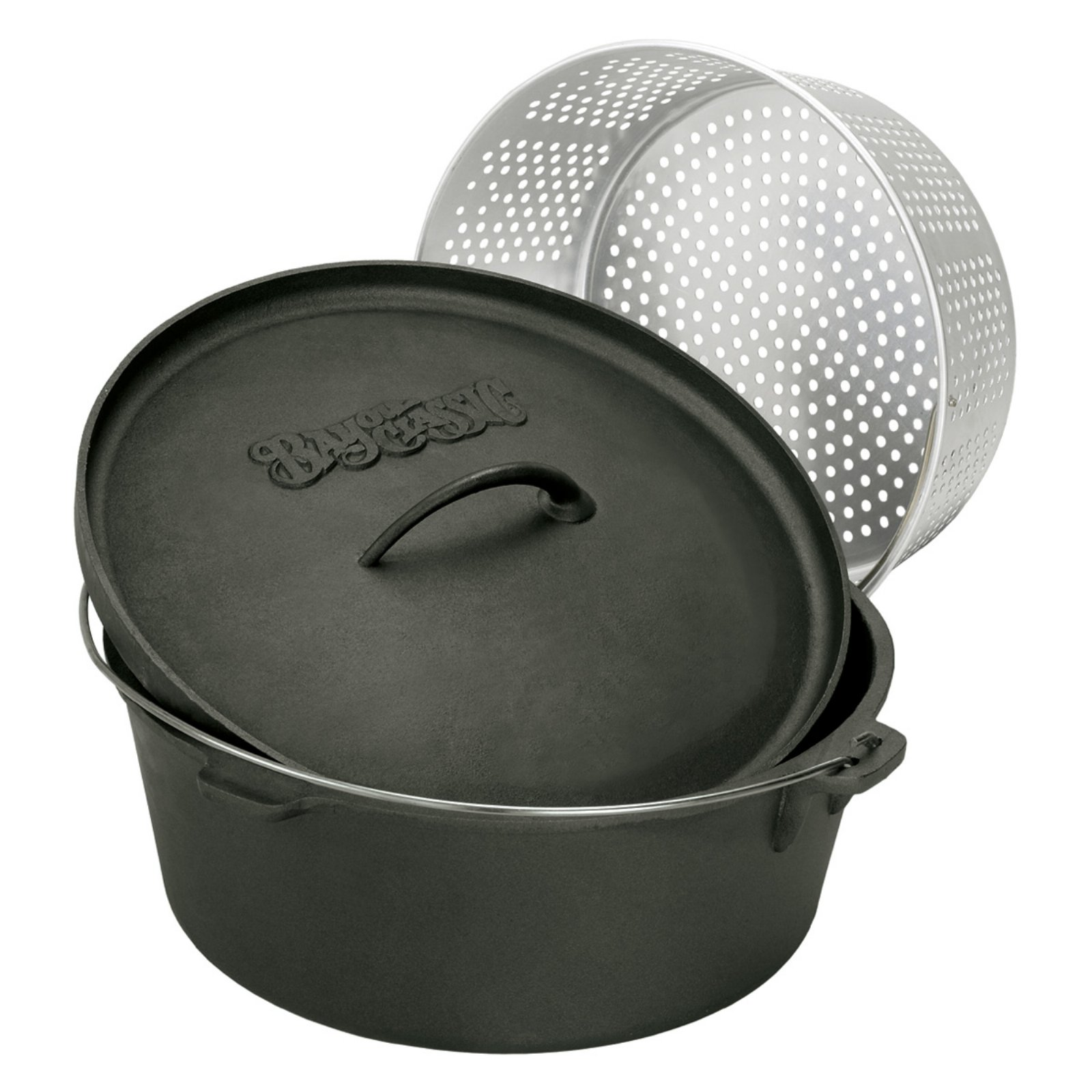 Bayou Classics Cast Iron Dutch Oven with Aluminum Basket by Bayou Classic