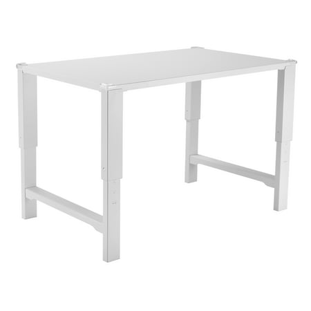 VIVO White Height Adjustable Desk for Children | Kids Smart Interactive  Ergonomic Sit Stand Work Station (DESK-V221)
