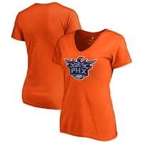 Phoenix Suns Fanatics Branded Women's Static Logo V-Neck T-Shirt - Orange