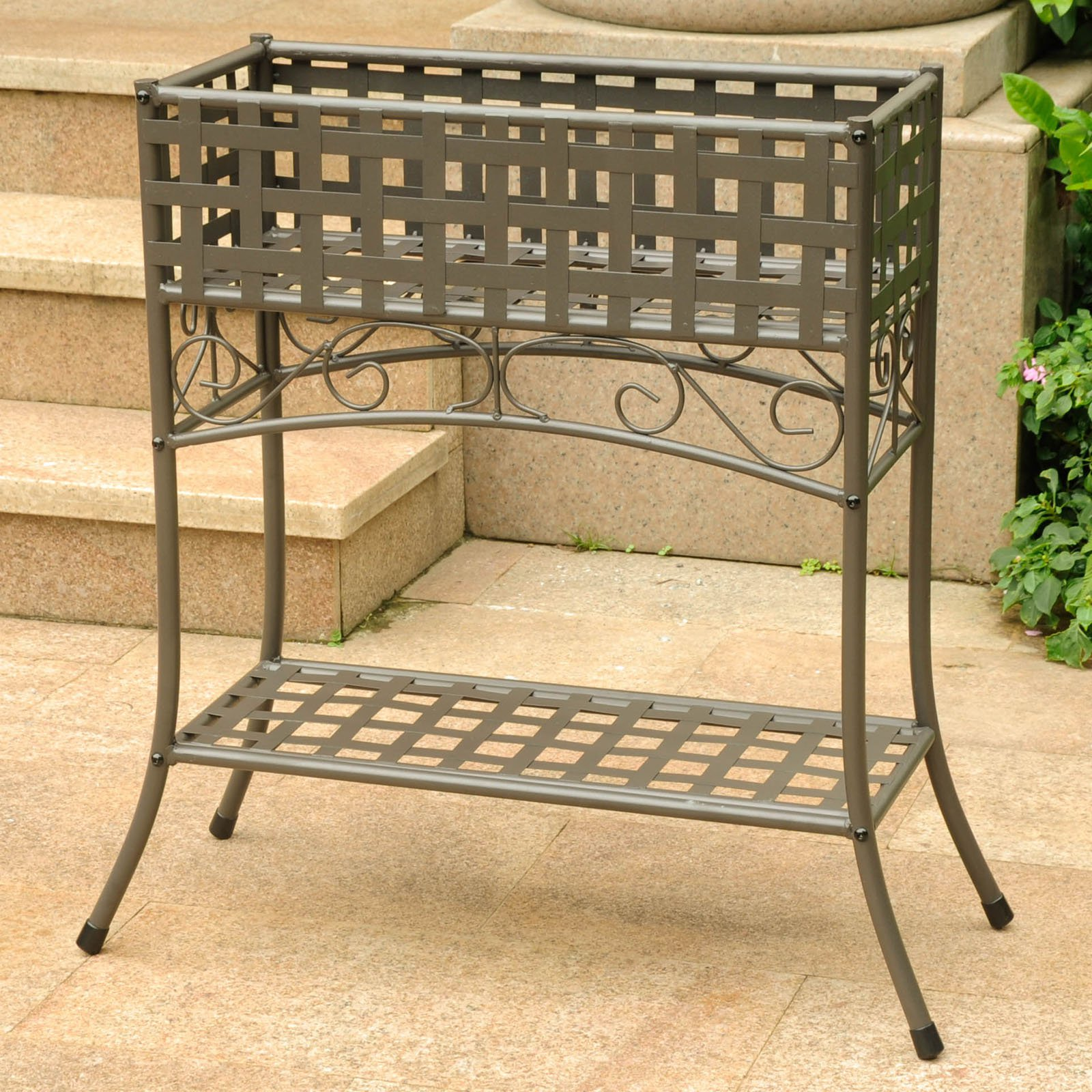 International Caravan Galleria Outdoor Plant Stand - Walmart.com