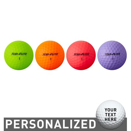 Top Flite Women's 2019 Lady Matte Multi-Color Personalized Golf (Best Womens Golf Balls 2019)