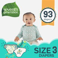 Seventh Generation Diapers with Animal Prints (Choose Size & Count)