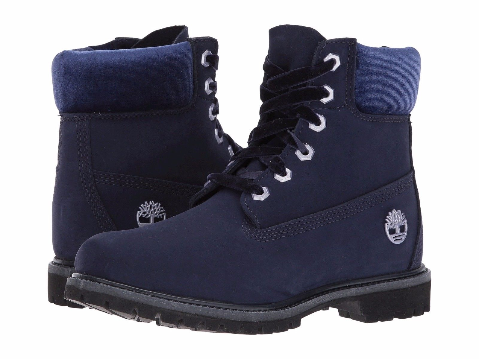 Timberland Womens 6 In Prem TB0A1KC5 Boot NAVY VELVET by Timberland