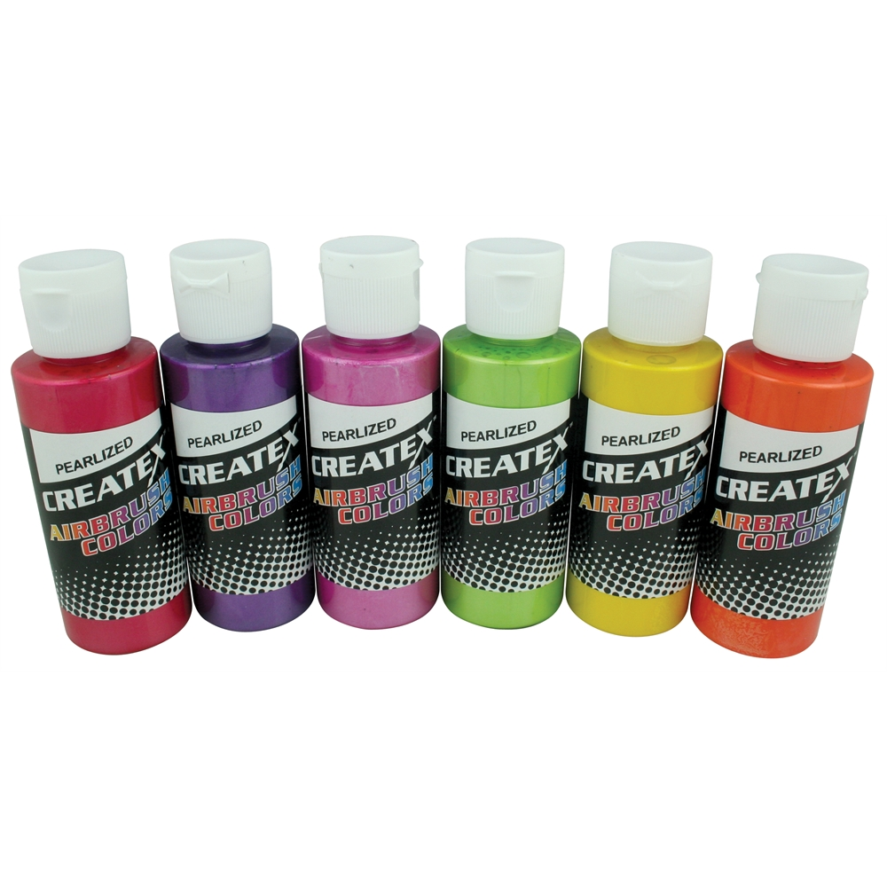 Createx Airbrush Pearlized 6-Color Set