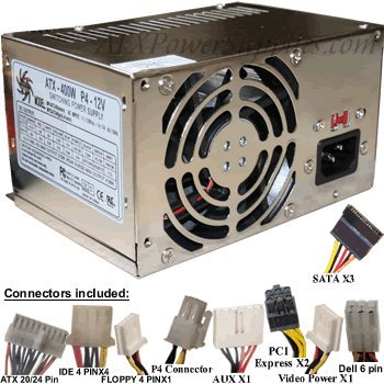 This is a Genuine Athena AP-MPS3ATX40 not a substitute - 400 Watt Upgrade for HIPRO Power Supply Model HP-D3537F3R LF, H