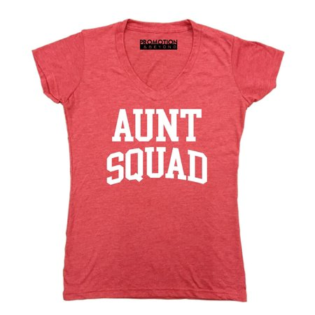 f9f11a0f837da Promotion & Beyond - Aunt Squad Birthday Pregnancy Mother's Day Gift Women's  V-neck, M, Heather Red - Walmart.com