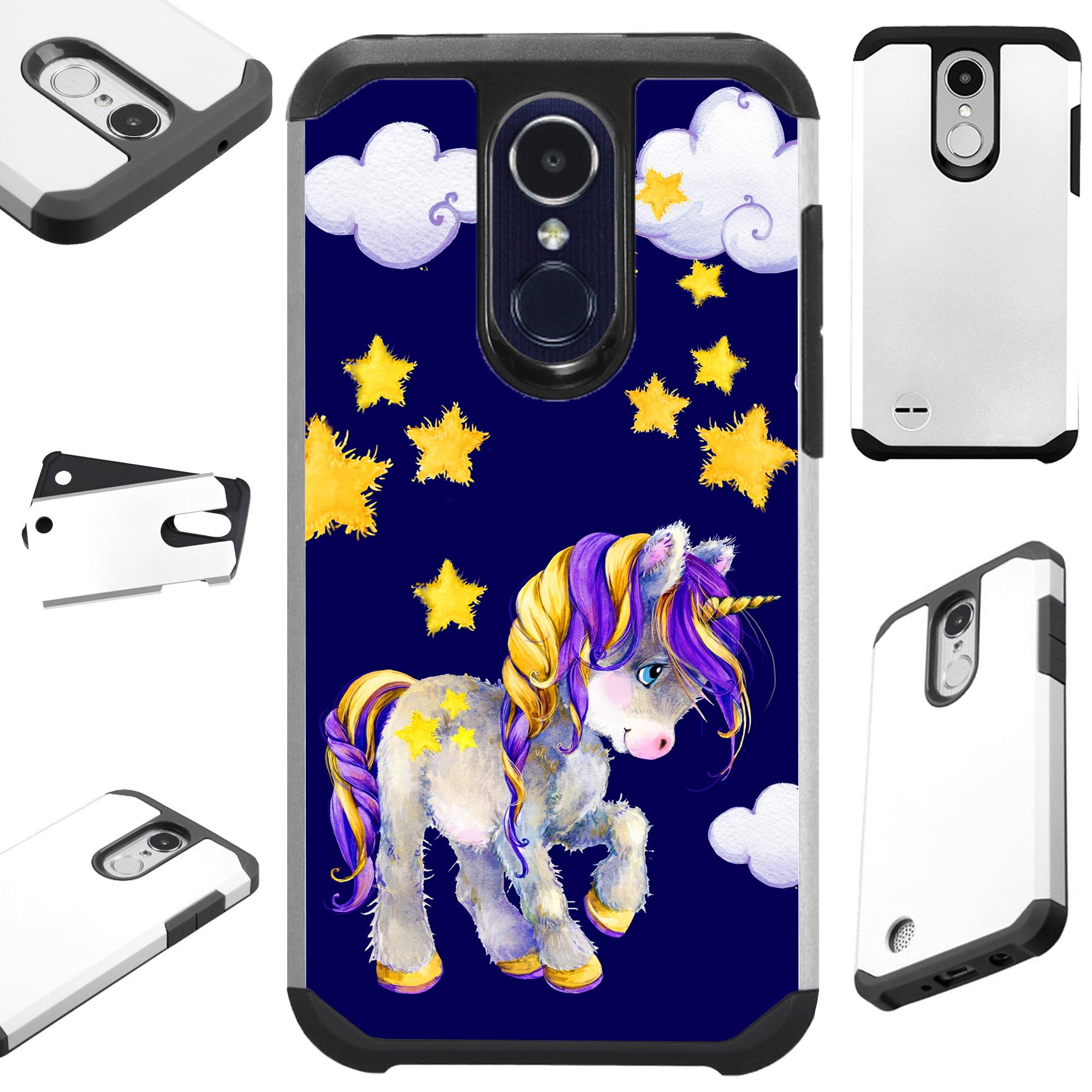 For LG K20 Plus V5 | Harmony | Grace | K10 (2017) | K20 V Case Hybrid TPU Fusion Phone Cover (Baby Unicorn)