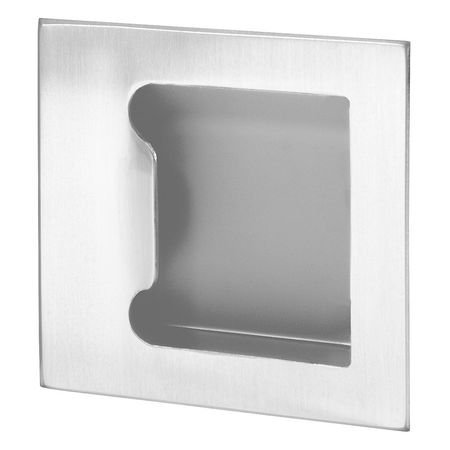 Contemporary Flush Pull - Rockwood BF97L.32D 5in. W x 5in. L Flush Door Pull