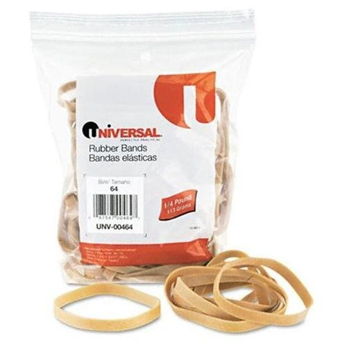 Universal Rubber Bands, 80 Bands/0.25 lb Pack (Set of 4)