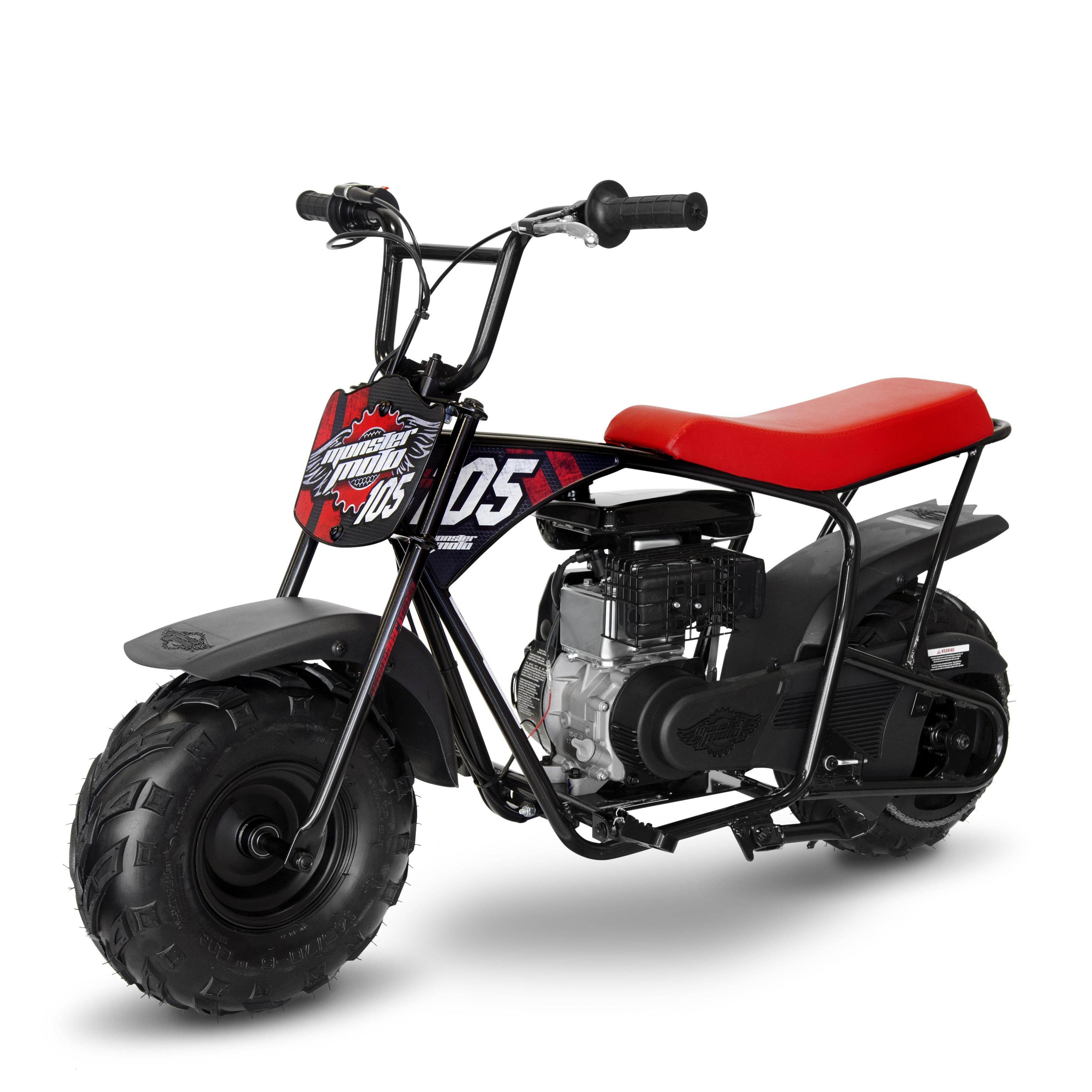 Mega Moto Gas Mini Bike Red & Black 105cc