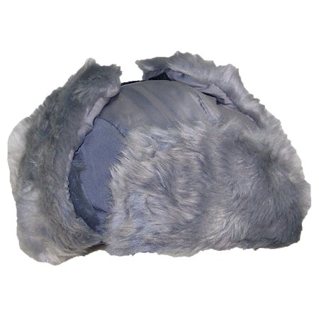 07db616efc7 Best Winter Hats Adult Nylon Russian Trapper W Soft Faux Fur Beanie - Gray  (XL XXL) - Walmart.com