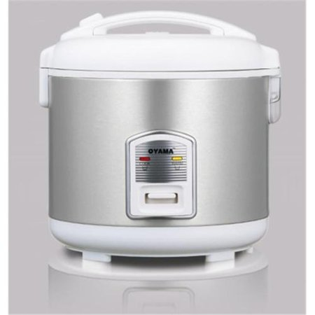 Oyama 10 Cup All Stainless Steel Rice Cooker Steamer Warmer White