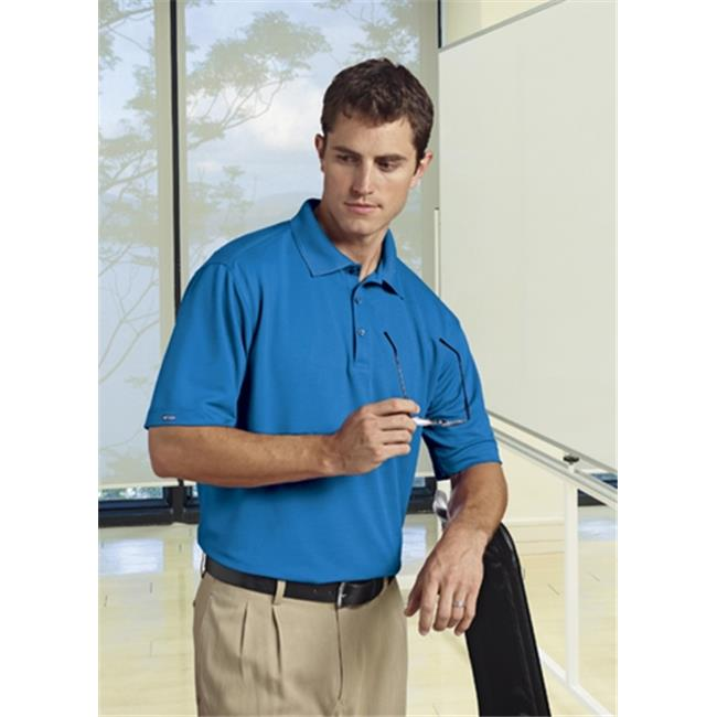 Bermuda Sands 766 Mens Matrix Short Sleeve Polo - Ocean Blue, Small
