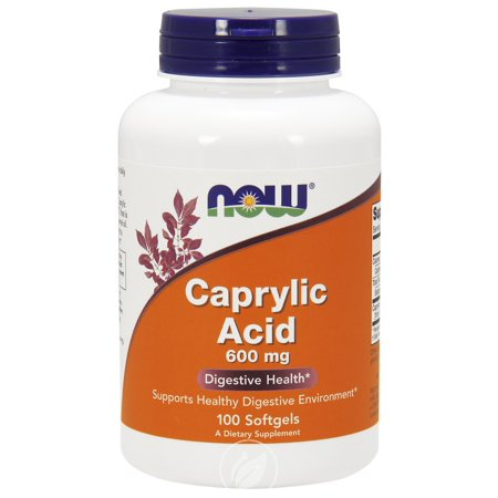 Now Foods - Caprylic Acid, 600 mg, 100 Softgels, Pack of - Caprylic Acid Yeast