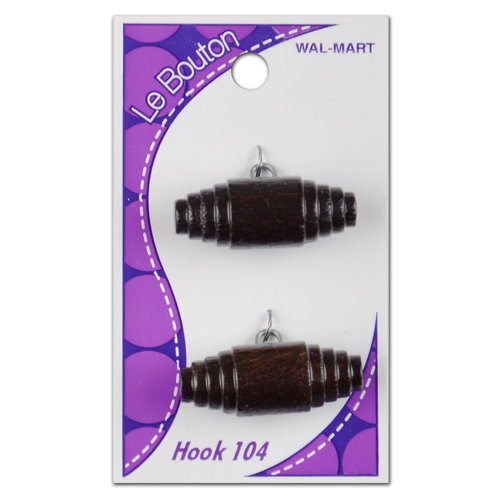 Le Bouton Wood Shank Buttons, Brown