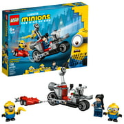 LEGO Minions Unstoppable Bike Chase 75549 Minions Toy Set, with Bob, Stuart and Gru Minion Figures (136 Pieces)
