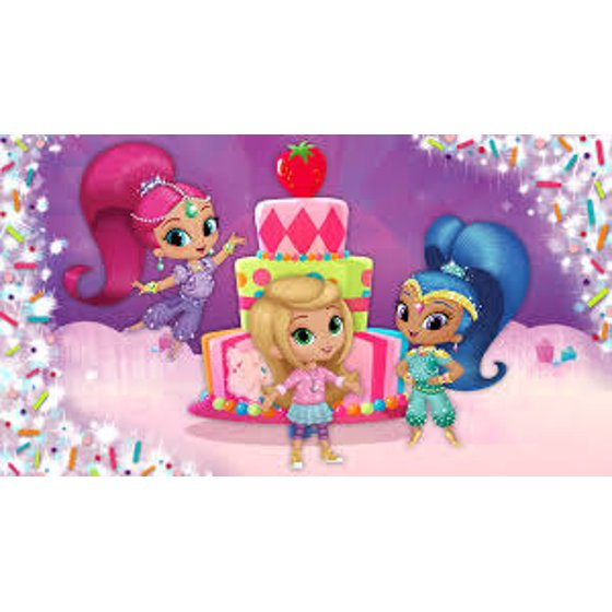Shimmer And Shine 1 4 Sheet Birthday Cake Cupcake Edible Image Childrens Kids