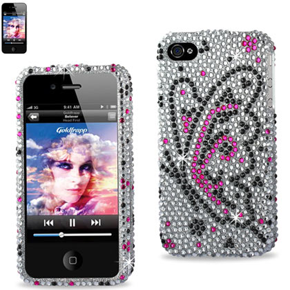 Diamond Protector Cover Iphone 4G Butterfly