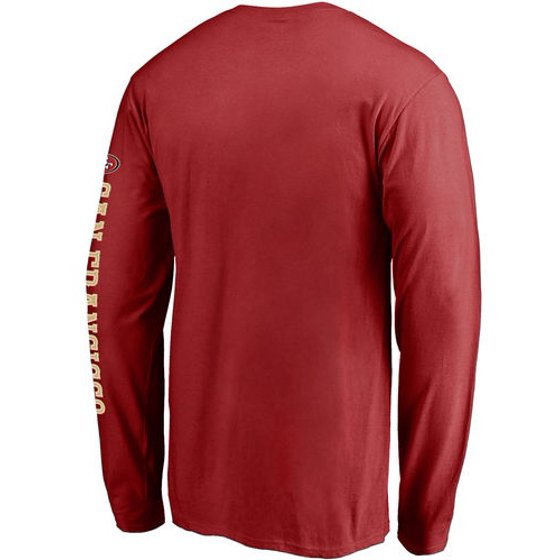 brand new 5eb49 dc194 San Francisco 49ers NFL Pro Line Hometown Collection Long Sleeve T-Shirt -  Red