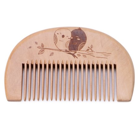 Wooden Hair Comb Mans Beard Comb Anti Static Male Mini Facial Hair Beard Comb Wood Massage Comb
