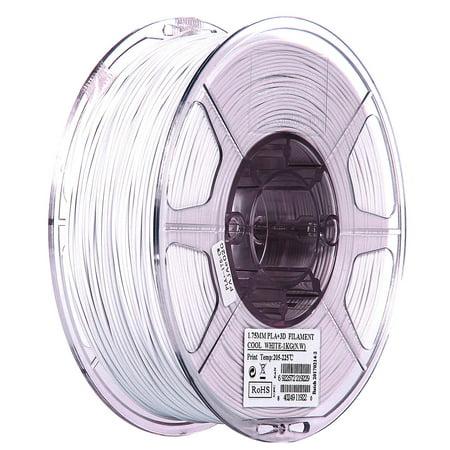 eSUN 1.75mm Cool White PLA PRO (PLA+) 3D Printer Filament 1KG Spool (2.2lbs), Cool -