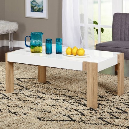 Smart Coffee Table White Natural