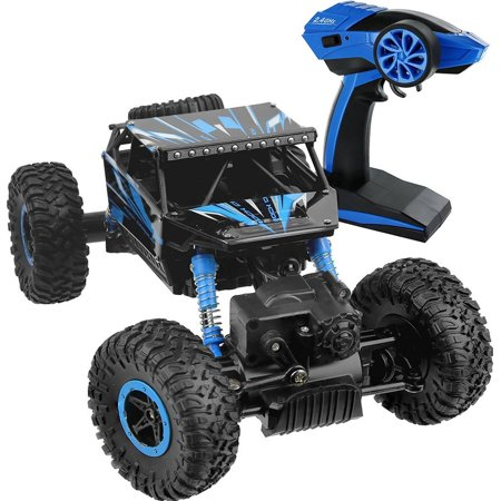 Hpi Wheely King Rock Crawler (Click N' Play R/C Remote Control 4WD Off Road All-Weather Rock Crawler vehicle 2.4 GHz Blue )