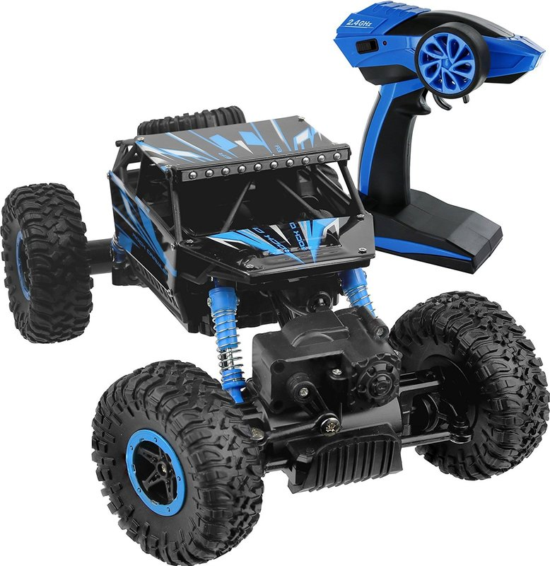 Click N' Play R/C Remote Control 4WD Off Road All-Weather Rock Crawler vehicle 2.4 GHz Blue