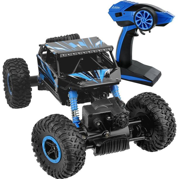 Click N Play R C Remote Control 4wd Off Road All Weather Rock Crawler Vehicle 2 4 Ghz Blue Walmart Com Walmart Com