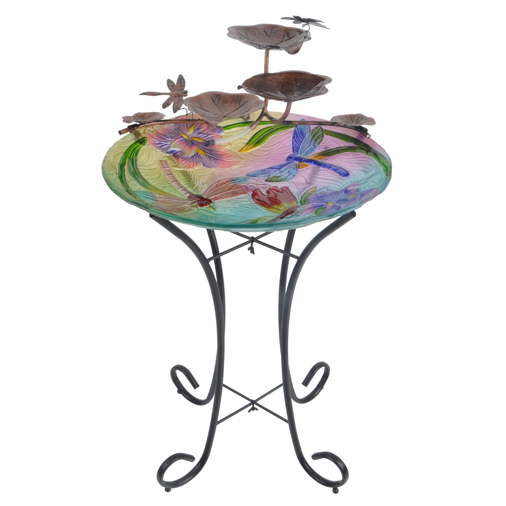 Peaktop - Outdoor Dragonfly Fusion Glass Fountain