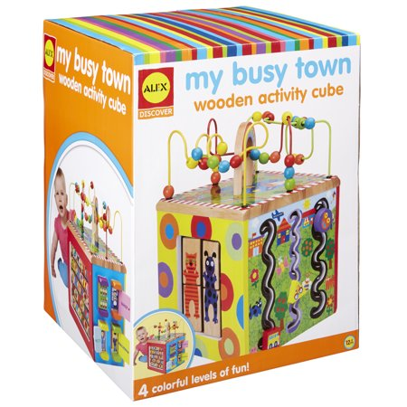 ALEX Discover My Busy Town Wooden Activity - Woody Toy
