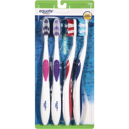 Equate Soft Toothbrushes, 4 count