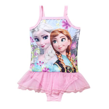 Toddlers Swimsuit Baby Girls Baby Girl Swimsuits Bathing Suit Elsa Princess One Piece Ruffle Swimwear Tankini for Baby Girls S - Princess Bathing Suits