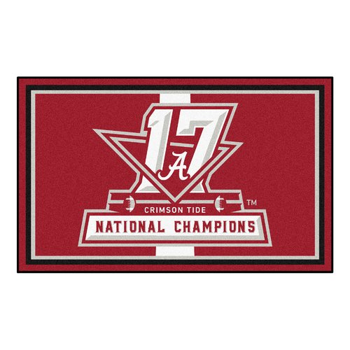 FANMATS NCAA Red/White Area Rug