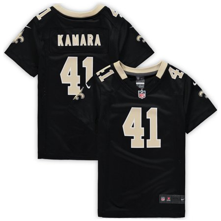 free shipping 3d7be a42fd Alvin Kamara New Orleans Saints Nike Girls Youth Game Jersey - Black