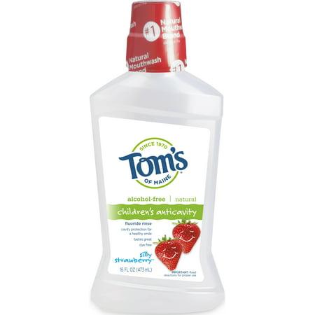 Tom's of Maine Silly Strawberry Children's Fluoride Rinse, 16oz ()
