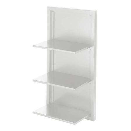 Small White Corner Shelf Wall Floating Storage Organizer