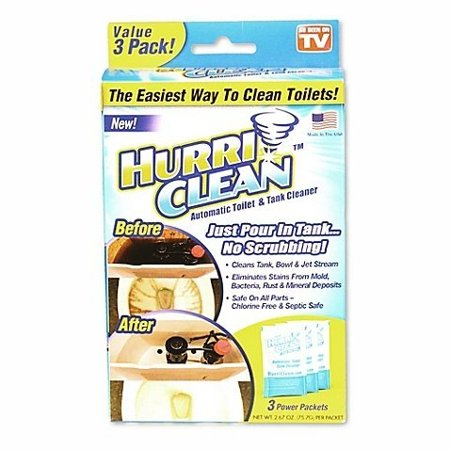 Hurriclean 3 Pack Automatic Toilet Cleaner   Eliminating Odors  Stains  And Hard Water Mineral Deposits  Set Of 2