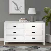 Annabelle Six Drawer Solid Wood White Dresser by Chateau Lyon