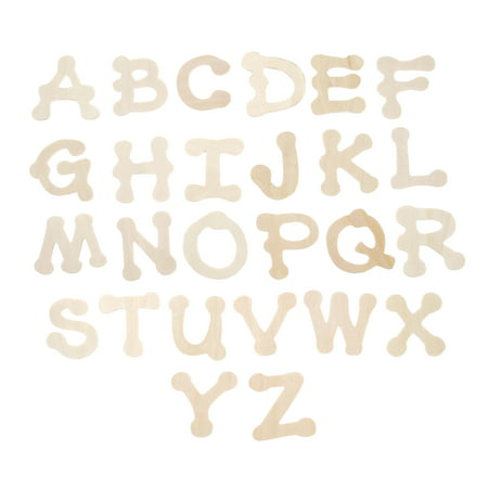 Darice Wooden Dot To Dot Font Alphabet Letters, 36 pieces ()