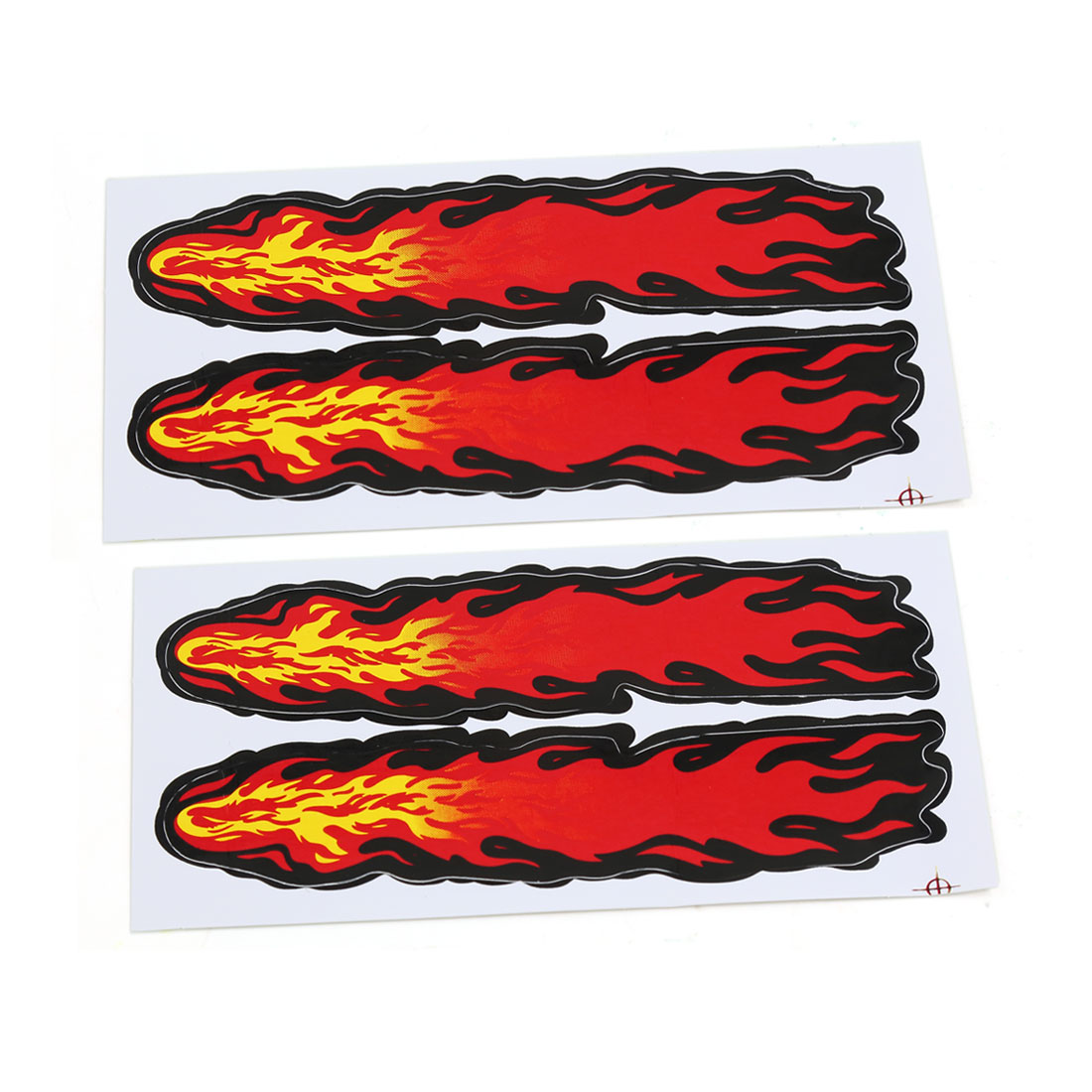 Yellow Red Flame Style Car Decoration Wall Vinyl Stickers Decals 16cm x 8cm 2pcs