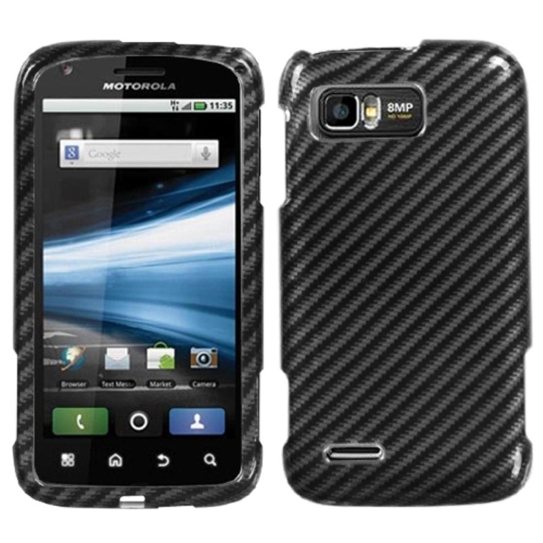 INSTEN Racing Fiber (2D Silver) Phone Case for MOTOROLA: MB865 (Atrix 2)