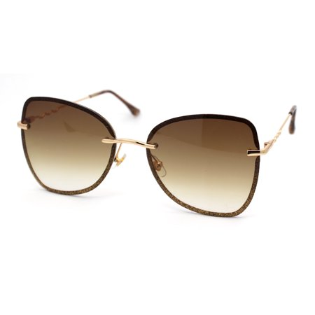 Womens Expose Lens Bow Shape Butterfly Chic Sunglasses Gold (Butterfly Sunglasses Face Shape)