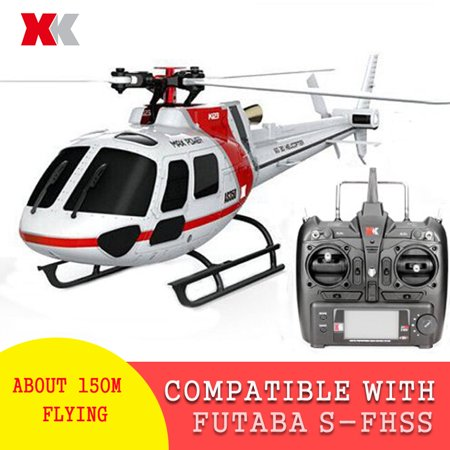 XK K123 6CH Brushless AS350 3D6G System RC Helicopter RTF Compatible with FUTABA S-FHSS Gifts