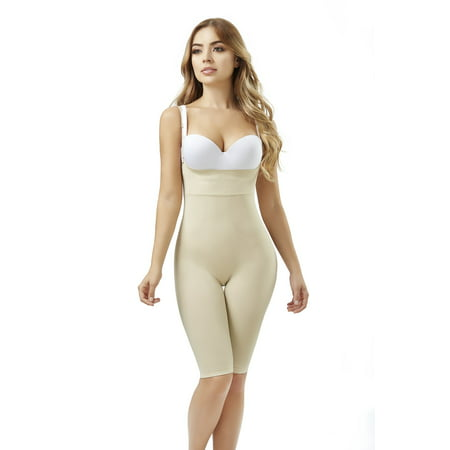 ShapEager Body Shapers Shapewear and Fajas - Women Seamless Shaper Bio-Crystals Long