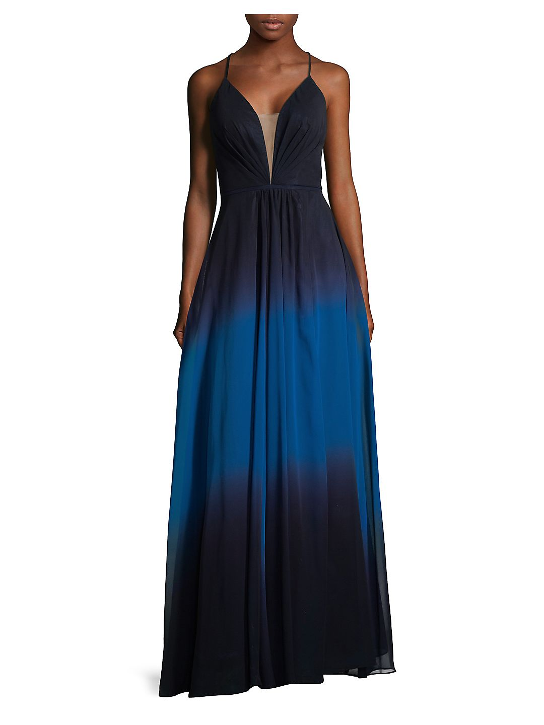 Ombre Floor-Length Gown