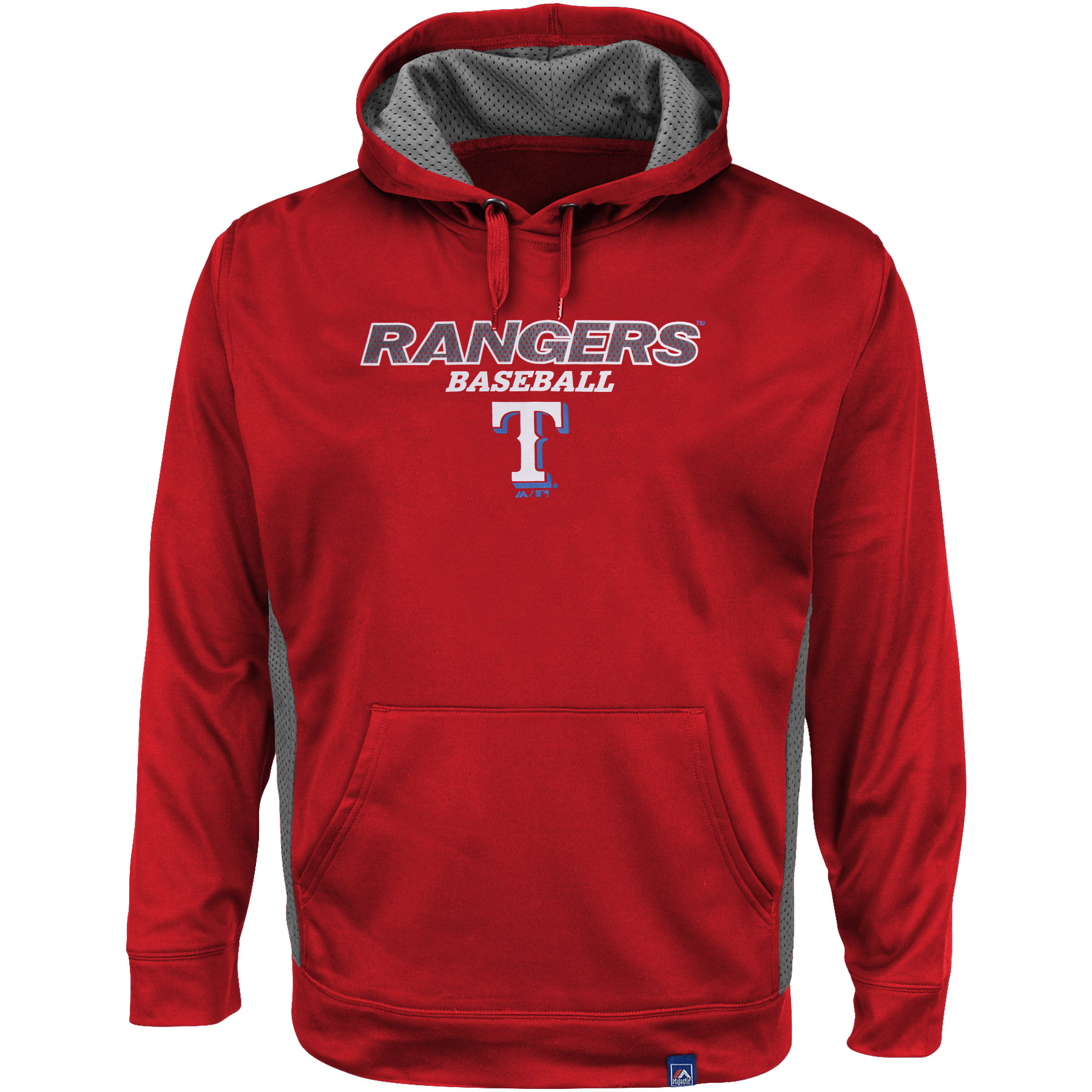 Texas Rangers Majestic Big & Tall Rookie Phenom Synthetic Hood - Red